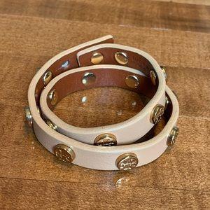 Tori Burch Tan Leather Wrap Bracelet